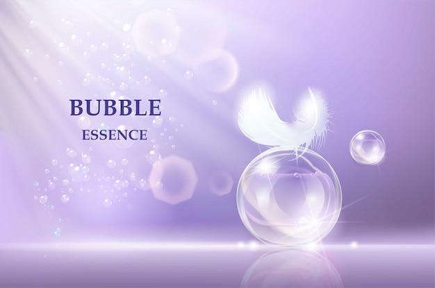 Plantilla para productos cosméticos para el cuidado de la piel.