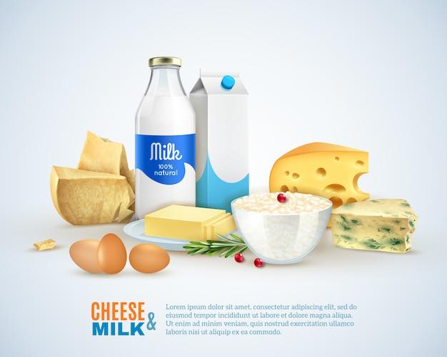 Plantilla de productos lácteos