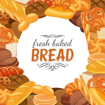 Plantilla de productos de pan