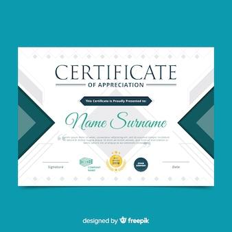 Plantilla profesional de certificado