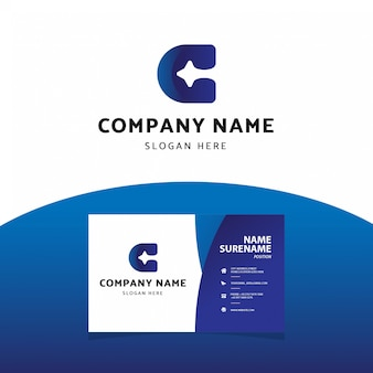 Plantilla profesional moderna de la tarjeta de visita del logotipo de la letra b