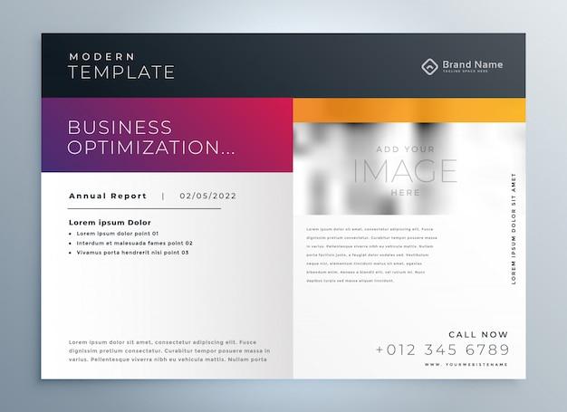 Plantilla profesional de presentación de folleto comercial moderno