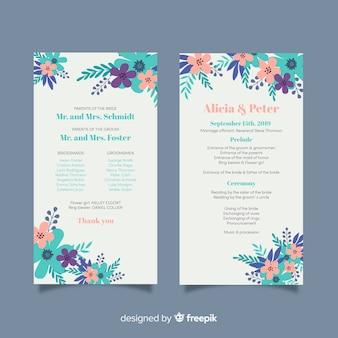 Plantilla programa de boda
