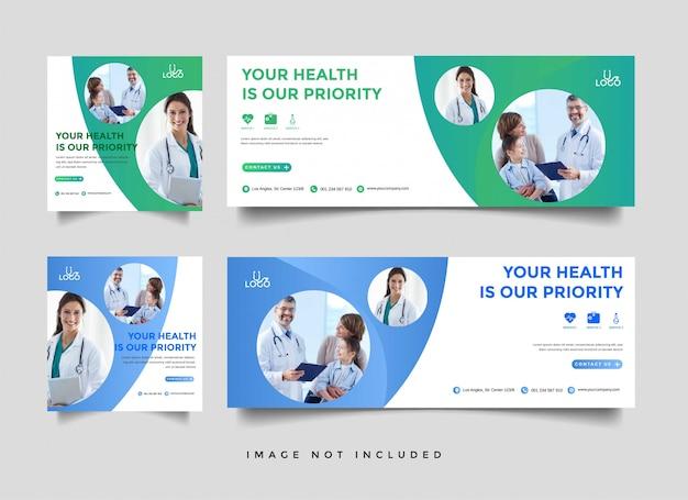 Plantilla de promoción de banner médico y sanitario