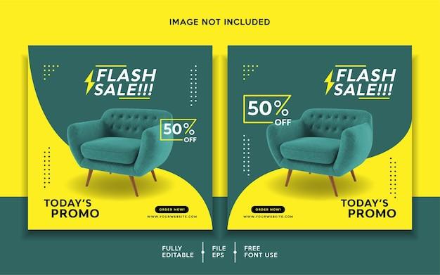 Plantilla de promoción de banner de venta flash
