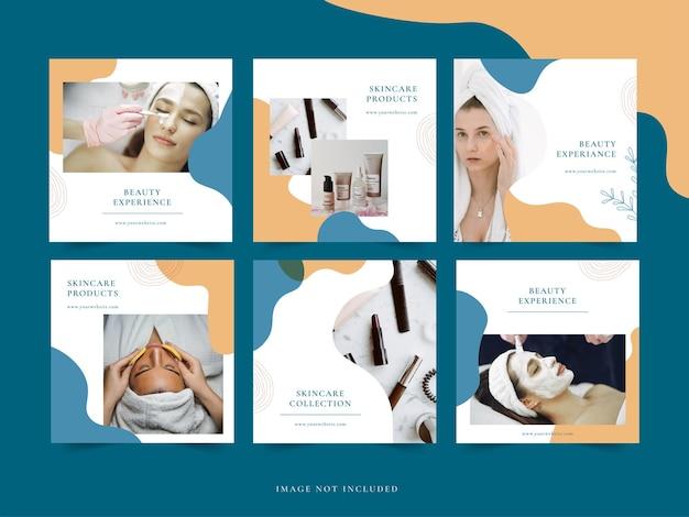 Plantilla de promoción de cuidado de la piel publicación de instagram