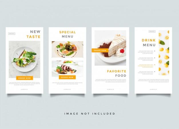 Plantilla de promoción de historias de instagram de alimentos y culinaria