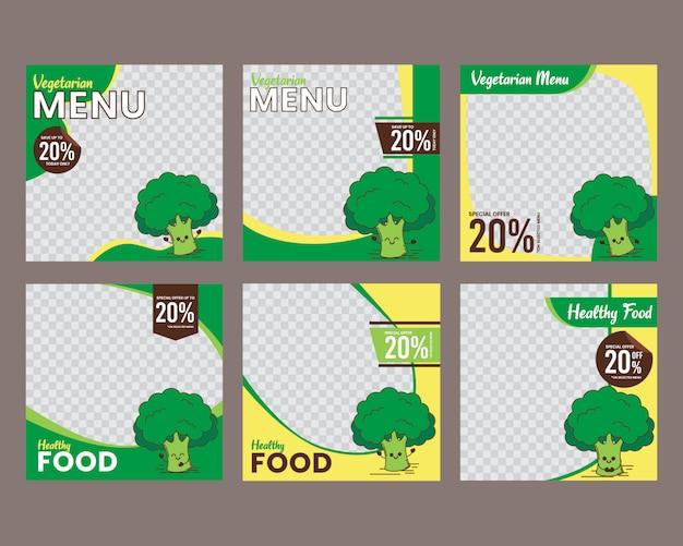 Plantilla de publicación de alimentos en redes sociales