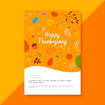 Plantilla de publicación de blog de acción de gracias con saludo