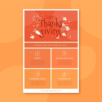 Plantilla de publicación de blog de acción de gracias