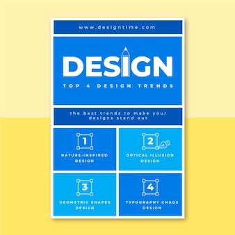 Plantilla de publicación de blog de diseño de cuadrícula