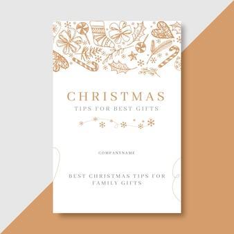 Plantilla de publicación de blog navideña festiva