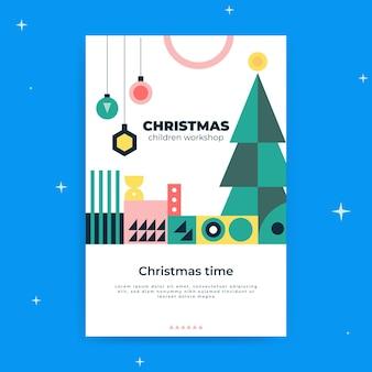 Plantilla de publicación de blog navideña