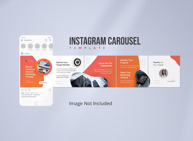 Plantilla de publicación de carrusel de estrategia de instagram