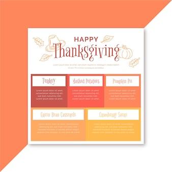 Plantilla de publicación de facebook de acción de gracias