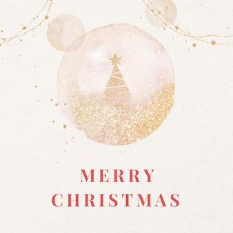 Plantilla de publicación de facebook de feliz navidad, saludos navideños para redes sociales