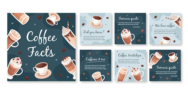 Plantilla de publicación de instagram de cafetería