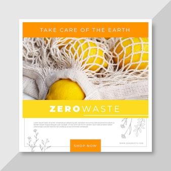 Plantilla de publicación de instagram de cero residuos