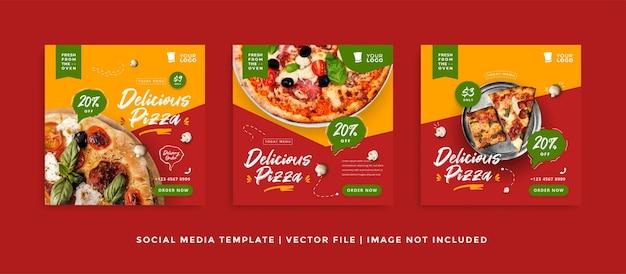 Plantilla de publicación de instagram de comida y cocina