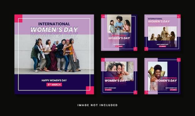 Plantilla de publicación de instagram del día internacional de la mujer