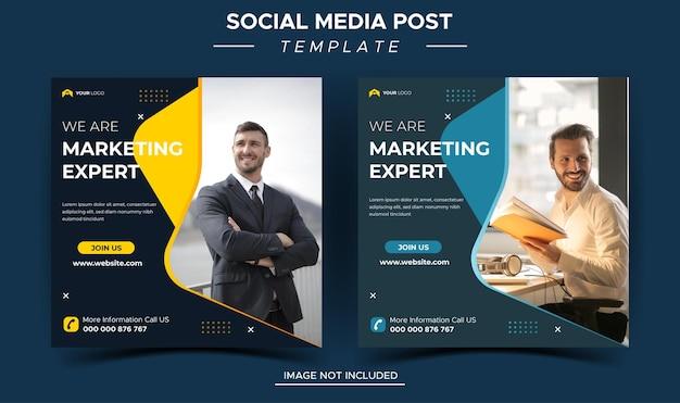 Plantilla de publicación de instagram de experto en marketing empresarial creativo