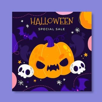 Plantilla de publicación de instagram de halloween