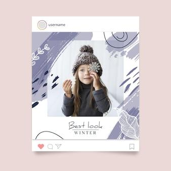 Plantilla de publicación de instagram de invierno