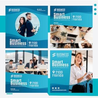Plantilla de publicación de instagram de negocios inteligente