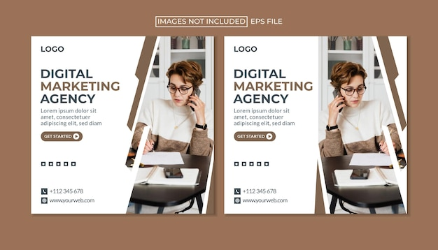 Plantilla de publicación de instagram de negocios