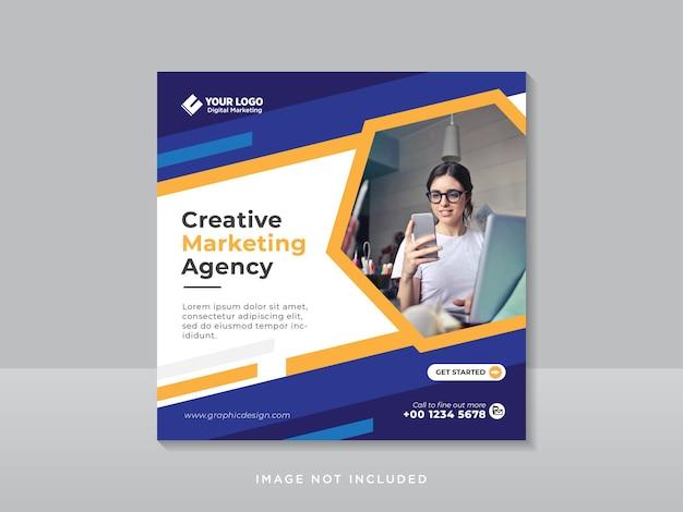 Plantilla de publicación de instagram y redes sociales corporativas de marketing digital