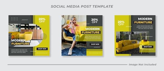 Plantilla de publicación de instagram y redes sociales de muebles