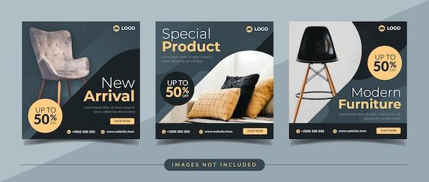 Plantilla de publicación de instagram de redes sociales de venta de muebles para el hogar