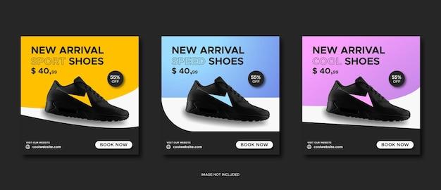 Plantilla de publicación de instagram y redes sociales de venta de zapatos deportivos