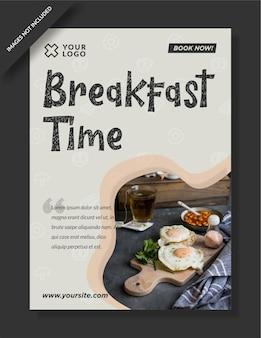 Plantilla de publicación de instagram de restaurante a la hora del desayuno