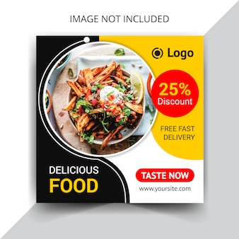 Plantilla de publicación de instagram de restaurante