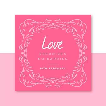 Plantilla de publicación de instagram de san valentín