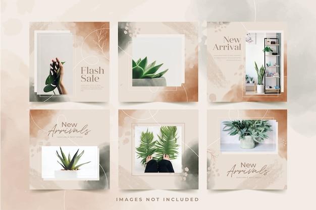 Plantilla de publicación de instagram de venta minimalista orgánica
