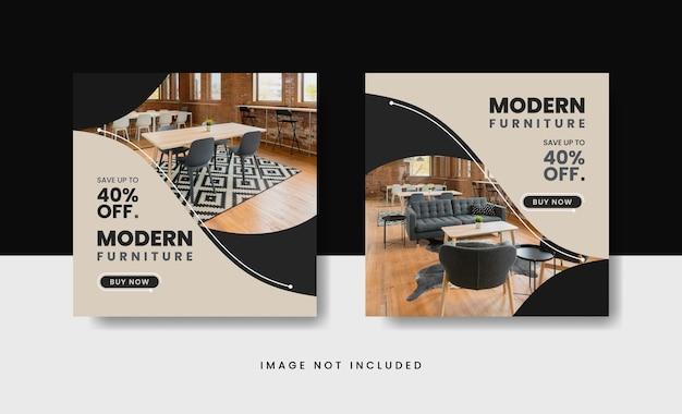 Plantilla de publicación de instagram de venta de muebles modernos
