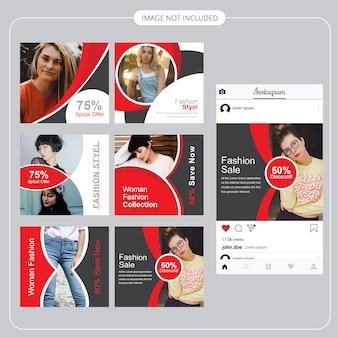 Plantilla de publicación de medios sociales de moda
