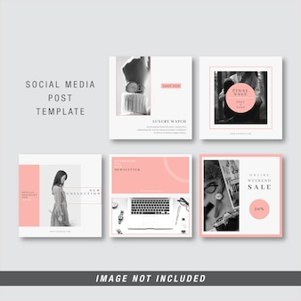 Plantilla de publicación de medios sociales