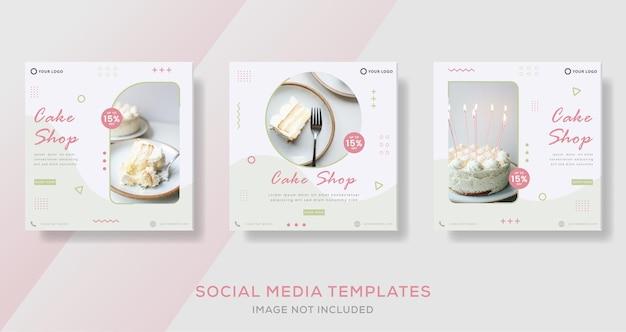 Plantilla de publicación de pancartas de pastel