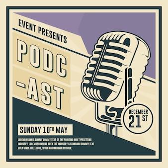 Plantilla de publicación de podcast en redes sociales
