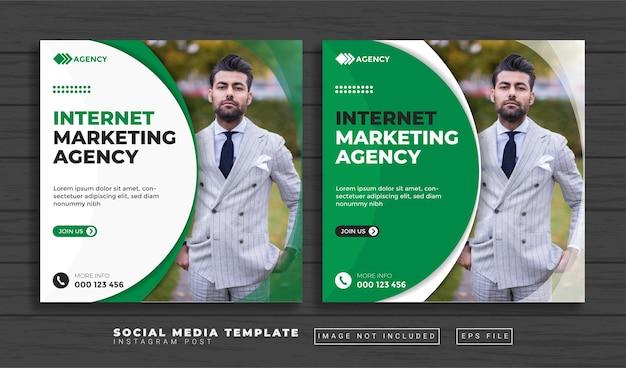 Plantilla de publicación de redes sociales de agencia de marketing creativo