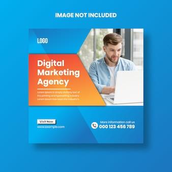 Plantilla de publicación de redes sociales, banner de agencia de marketing digital
