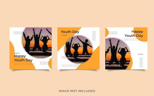 Plantilla de publicación de redes sociales feliz día de la juventud