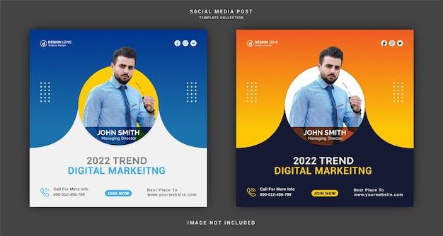 Plantilla de publicación de redes sociales de marketing digital de tendencia 2022