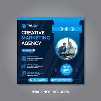 Plantilla de publicación de redes sociales de marketing empresarial creativo