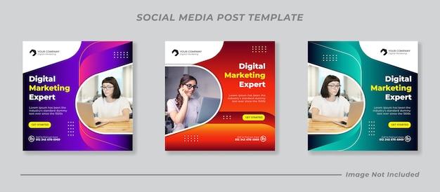 Plantilla de publicación de redes sociales de marketing de negocios digitales