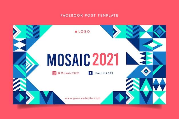 Plantilla de publicación de redes sociales de mosaico plano