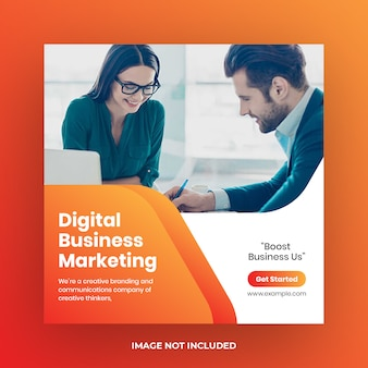Plantilla de publicación de redes sociales de negocios de marketing digital